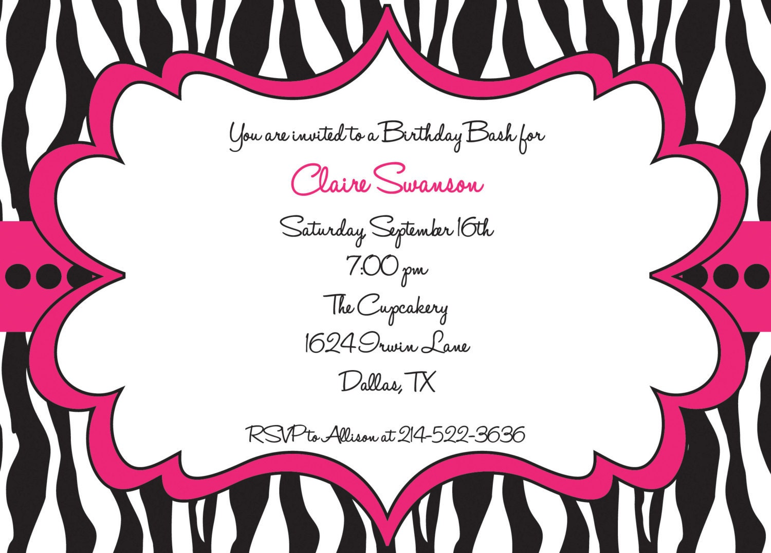 Pamper Party Invite for nice invitations sample