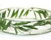 Flower Bracelet- Summer Winds-Green Bracelet- Real Flower Jewelry- Flower Bracelet- Resin Jewelry- Real Dried Flowers- Summer Winds