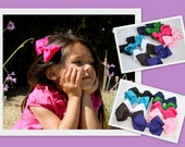 Medium Hair Bow Grosgrain Ribbon Many Colors to Choose From