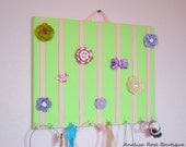 LARGE Light Green and Pink Hair Bow Holder Accessory Organizer Headband Holder