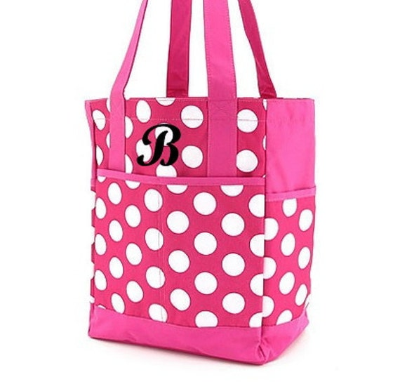 Insulated Tote Personalized Lunch Cooler Fuchsia Hot Pink