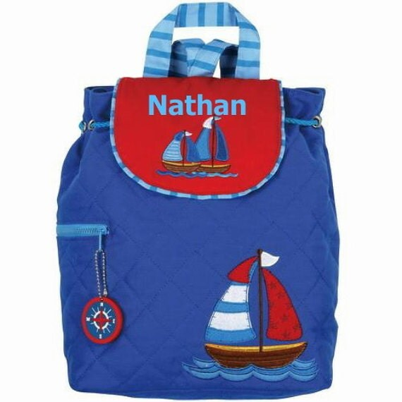 Personalized Backpack Quilted BOAT Stephen Joseph