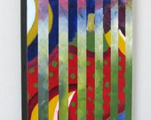 Fusion  - 12x24 - Original Reassembled Acrylic Painting by Joel Traylor