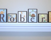 Baby Name Decor . ROUTED EDGE . Nursery Room Decor . Childrens Wall Decor . Nursery Wall Decor . M2M Carters Laguna Bedding . Turtle Frog