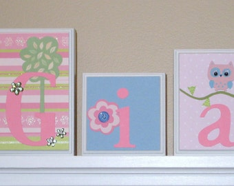 Popular items for nursery wall name on Etsy