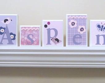 Name Blocks . ROUTED EDGE . Nursery Name Blocks . Nursery Decor . Baby Name Blocks . Wood Name Blocks . Pink Purple White Black
