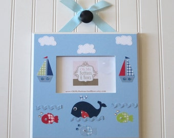 Picture Frames . Hanging Standing Frames . Photo Frame . Nursery Frame . Boutique Picture Frames . Custom Picture Frames . Whale Boat Frame