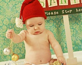 Santa Hat, Baby, FREE SHIPPING, Photography Prop