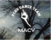 Vinyl Car Window Decal 5h x 6w - Dance 1 Personalized Dance Decal with Team Name and Student'sName