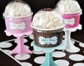 12 Personalized Ice Cream Cup Party Favors