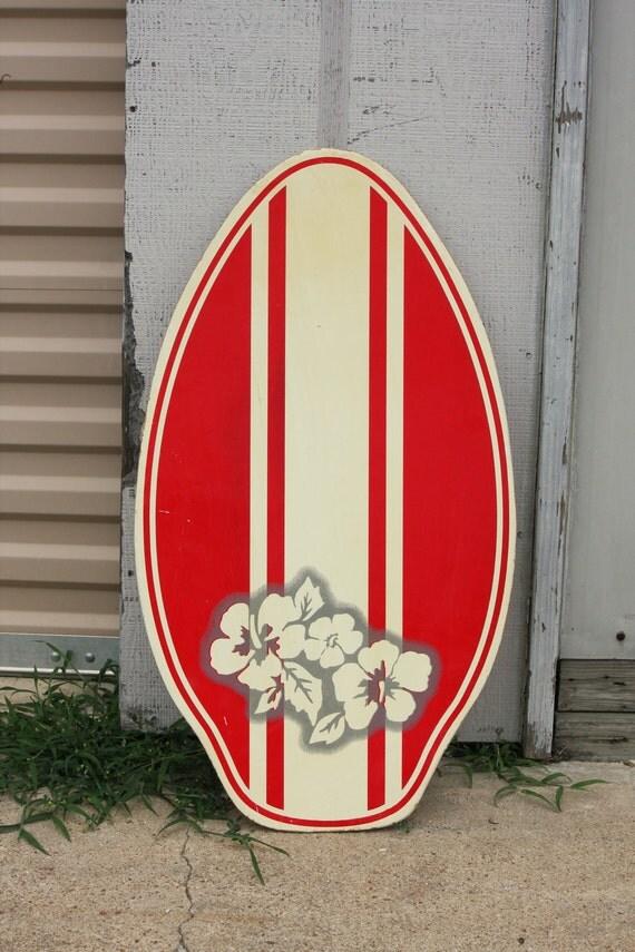 Vintage Skimboard Boogie Board Surf Table Shelf