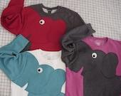 Elephant Trunk sleeve sweatshirt sweater jumper CUSTOMiZE YOUR OWN