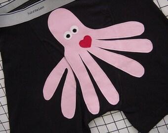 Valentino Octopants, the seven legged octopus boxer shorts. Mens underwear.