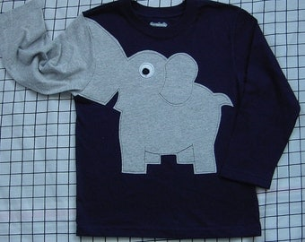 Elephant trunk sleeve toddlers size 3T crewneck NAVY