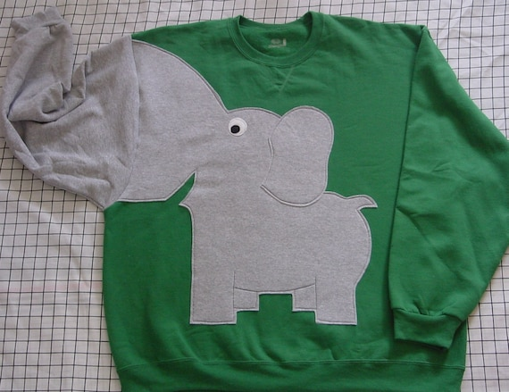 ONLYONE Elephant Trunk sleeve sweatshirt sweater jumper mens 2XL Emerald Green