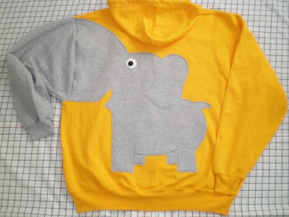 ZiP HOoDIE Elephant Trunk BACK sleeve sweatshirt sweater jumper Mens 2XL oR CUSTOMiZE your own