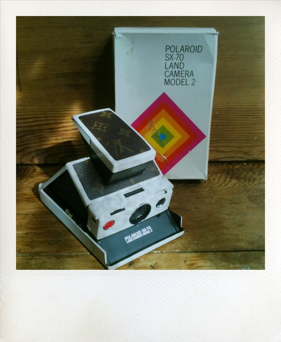 """Polaroid SX-70 Model 2 """"Louis Vuitton"""" With Original Packaging, Manual, and SX70 Book"""