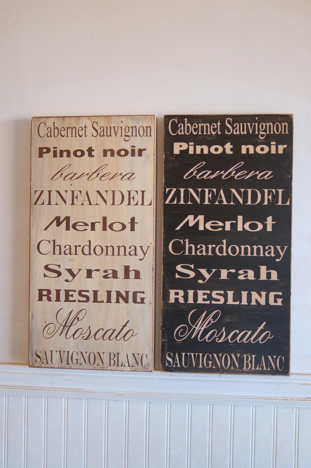 Distressed Wine Signs