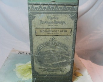 Motherwort Herb Apothecary Cannister 1900's