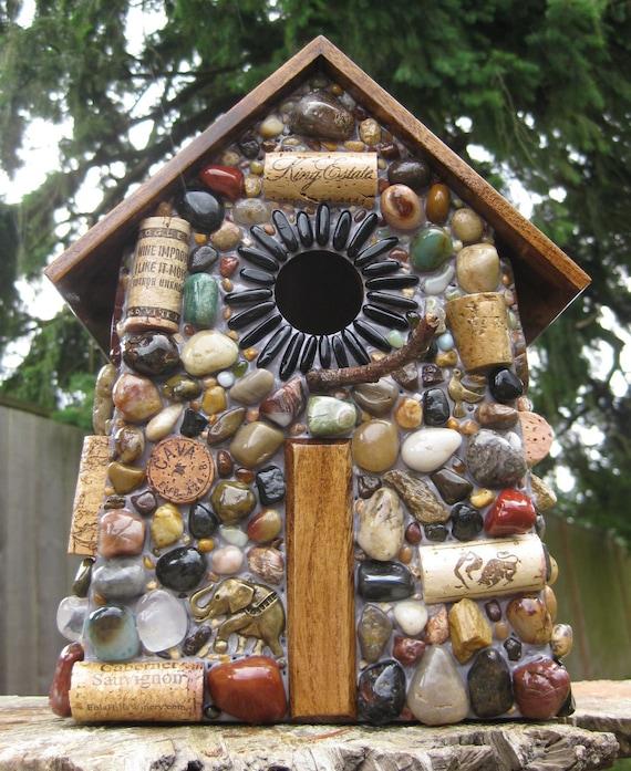 Garden Mosaic Birdhouse Large