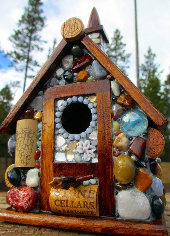 Mosaic Birdhouse Eco Friendly Cottage