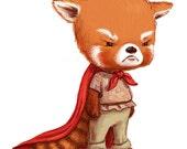 Grumpy Red Panda: Fine Art Print