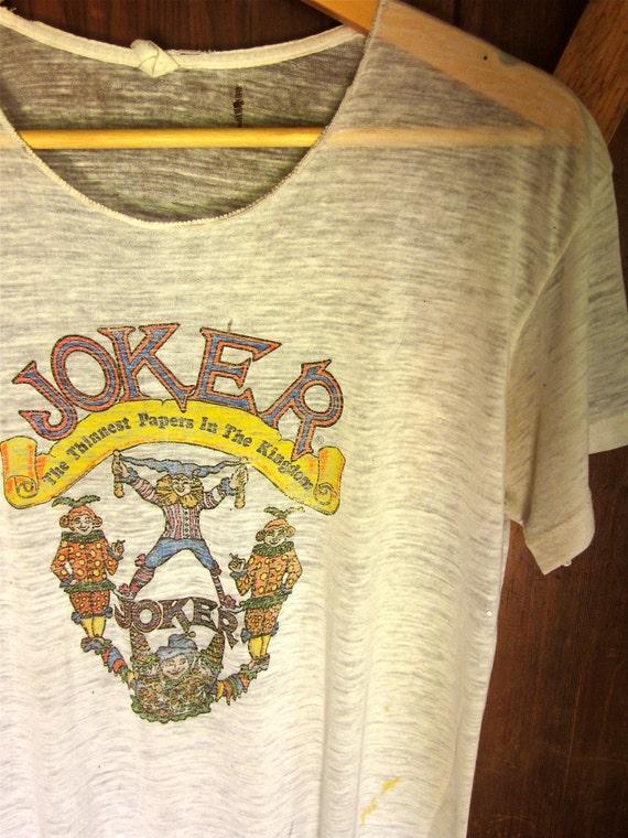 70 S Joker Rolling Papers T Shirt Paper Thin Vtg