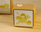 Kodomo No Kao Relax with a Good Book Stamp