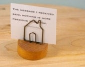 House Shaped Wire Note Card Holder from Japan