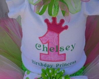 Birthday Princess Embroidered Shirt