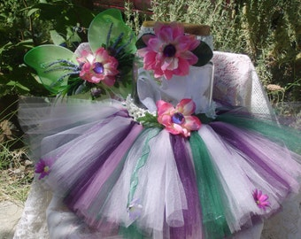 fairy tutu set - Mini Woodland Fairy Set.  For newborn to 24 months