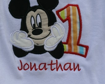 Embroidered Birthday shirt - Mickey Mouse