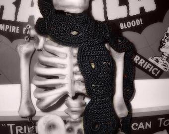 Crochet Skull Scarf Pattern PDF Pattern Instant Download