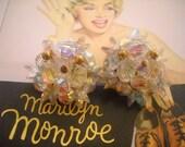 "So Marilyn ... ""Vintage Borealis""  ""Clip Earrings"" ... ""Here comes the Bride"""