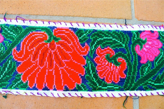 Mexican embroidery strips chiapas blouse border by