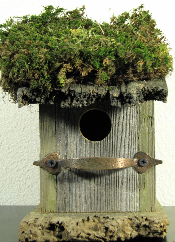 Rustic Birdshed, Rustic Birdhouse, Repurposed Wood Birdhouse, Hardware, Eco-friendly, Birdhouse, Rustic