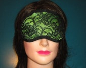 SALE sleeping mask with lace over-lay