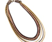 Gold and Brass Multi Chain Necklace