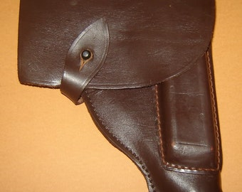 Old Vintage Russian USSR WWII Leather Gun Pistol Holster