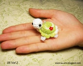 Cute Flowery Turtle Charm - Amigurumi Turtles - Made to order.