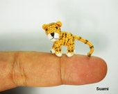 Miniature Tiger Stuffed Animal - Small Crochet Tiny Amigurumi Animal Doll Toy - Made To Order