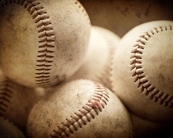 Baseball Decor, Baseball Picture, Boys Room Art for Boys, Game Room, Man Cave, Sports Art, Sports Decor, Baseballs, Picture of Baseballs.