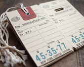 LAST Set of 2 1940's New York Central System Baggage Tags
