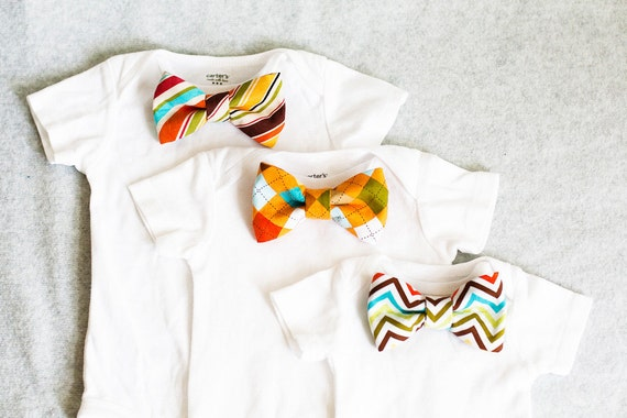 Bow Tie Bodysuit Gift Set Choose 3 Bow Ties Any 3 Sizes by ...