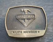 Handyman Club of America- vintage belt buckle