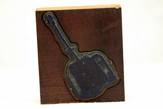 Popcorn Marked IPEU Vintage Letterpress Block Wood Printer's Block #12
