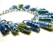 Recycled Water Bottle and Magazine Bracelet -- Life is a Beach