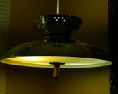 Mid Century Space Age Flying Saucer Ceiling Light Fixture