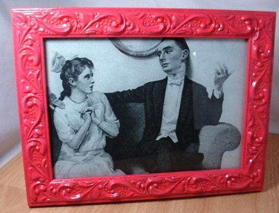 Candy Pink Hand Painted Picture Frame