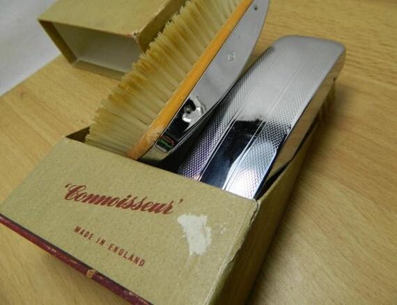 Antique Gents Connoisseur English Hair & Cloth Brush Set
